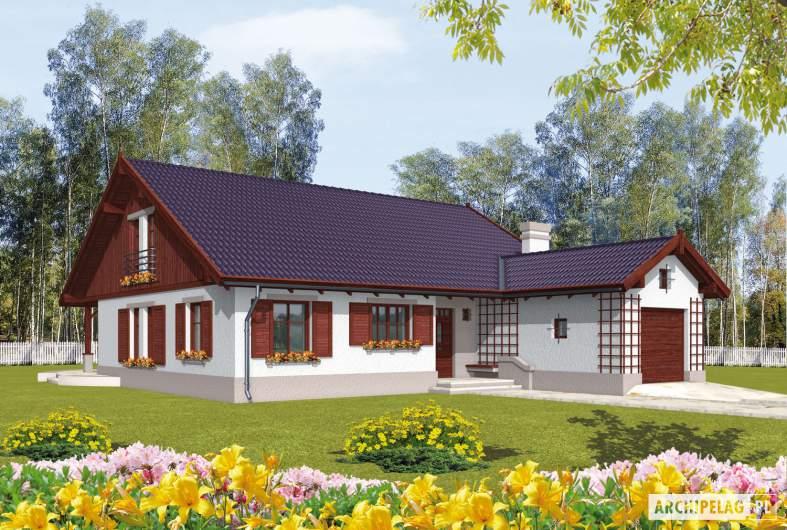 Projekt domu Klementynka G1 - wizualizacja frontowa