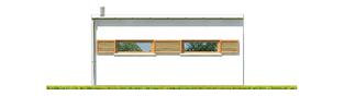 Projekt domu Budynek gospodarczy G41 (z wiatą) - elewacja tylna