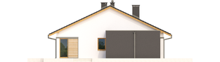 Projekt domu Rafael IV G1 - elewacja lewa