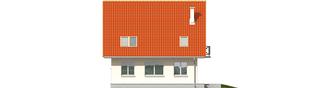 Projekt domu Czesława II - elewacja tylna