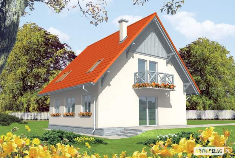 Projekt domu Czesława II - wizualizacja ogrodowa