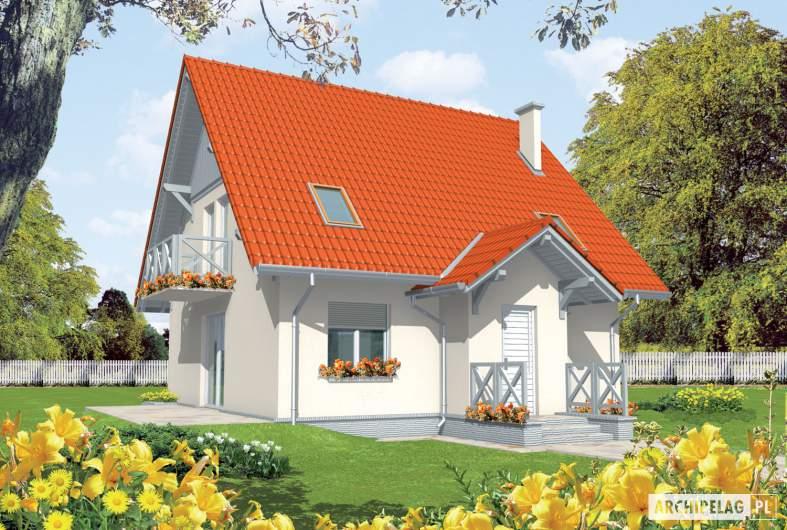 Projekt domu Czesława II - wizualizacja frontowa
