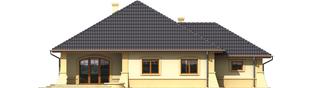 Projekt domu Huberta II G1 - elewacja tylna