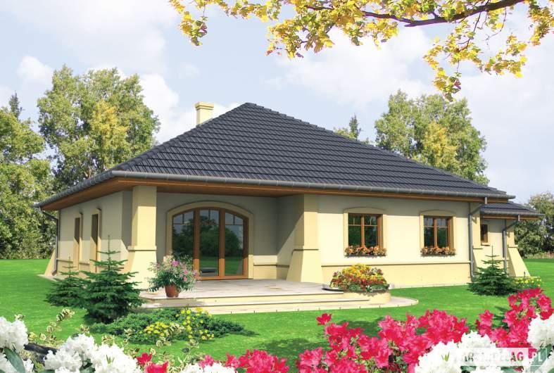 Projekt domu Huberta II G1 - wizualizacja frontowa