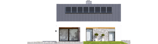 Projekt domu Ralf II G1 ENERGO PLUS - elewacja tylna