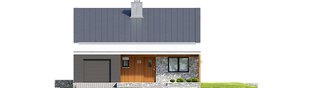 Projekt domu Ralf II G1 ENERGO PLUS - elewacja frontowa