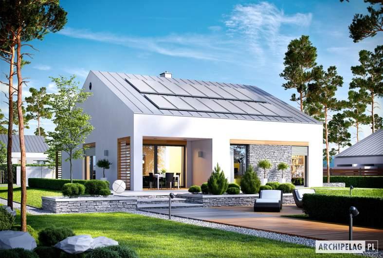 Projekt domu Ralf II G1 ENERGO PLUS - wizualizacja ogrodowa