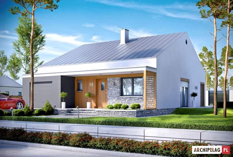 Projekt domu Ralf II G1 ENERGO PLUS - wizualizacja frontowa