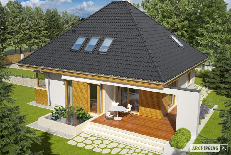 Projekt domu Jarek II G1 - widok z góry