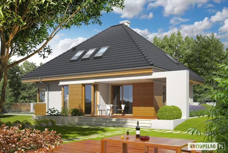 Projekt domu Jarek II G1 - wizualizacja ogrodowa