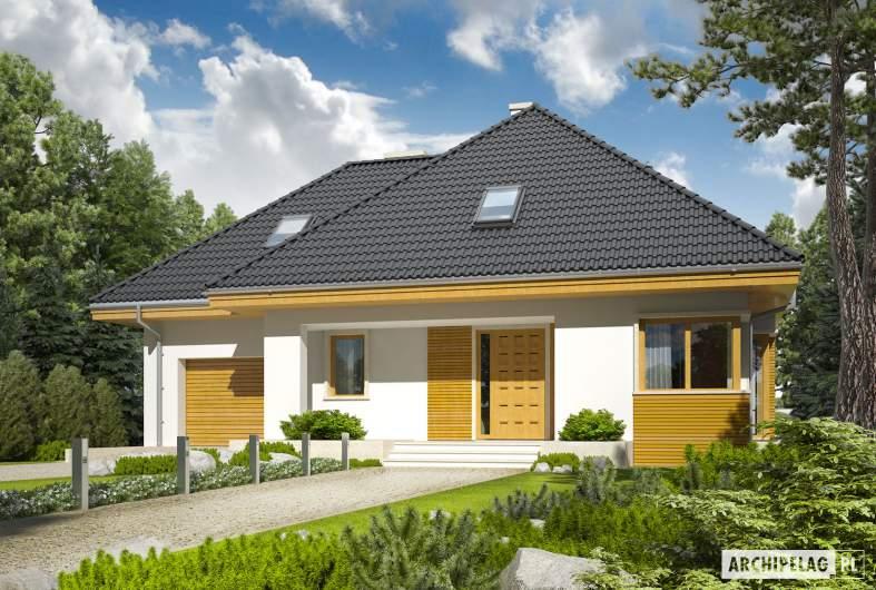 Projekt domu Jarek II G1 - wizualizacja frontowa