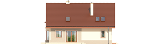 Projekt domu Arizona G1 - elewacja tylna