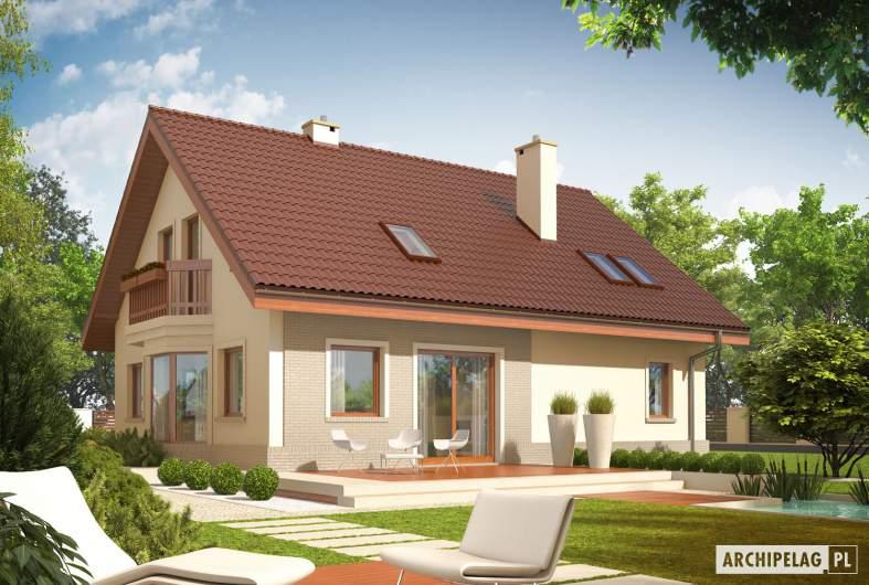 Projekt domu Arizona G1 - wizualizacja ogrodowa