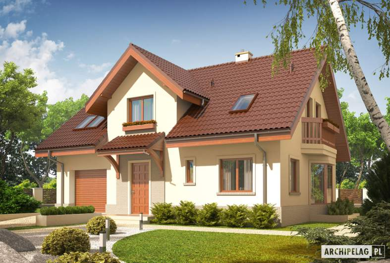 Projekt domu Arizona G1 - wizualizacja frontowa