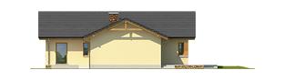 Projekt domu India G2 (wersja B) - elewacja lewa