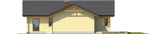 India G2 B - Projekt domu India G2 (wersja B) - elewacja lewa