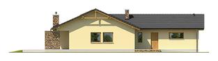 Projekt domu India G2 (wersja B) - elewacja tylna