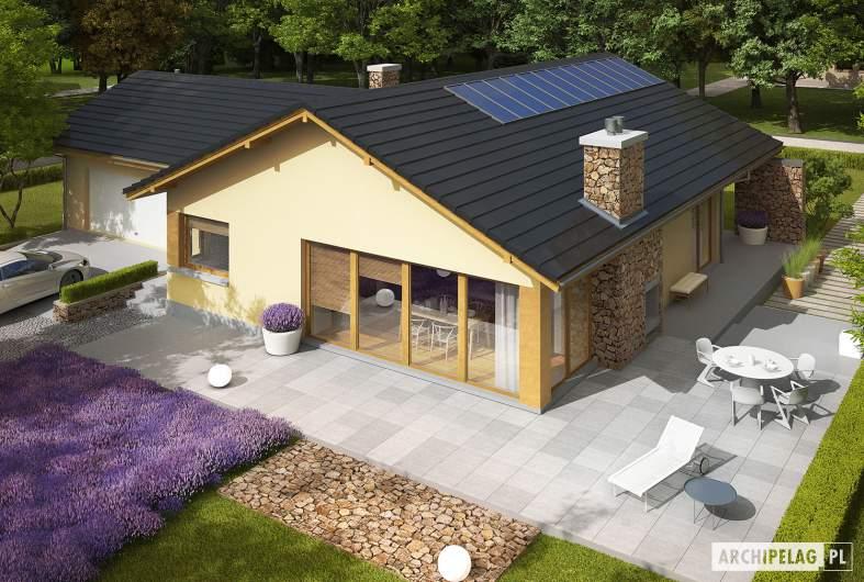 Projekt domu India G2 (wersja B) - widok z góry
