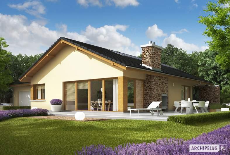 Projekt domu India G2 (wersja B) - wizualizacja ogrodowa