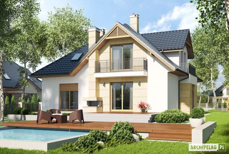 Projekt domu Samuel G1 - wizualizacja ogrodowa