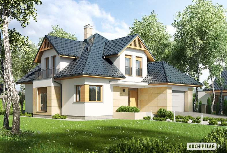 Projekt domu Samuel G1 - wizualizacja frontowa