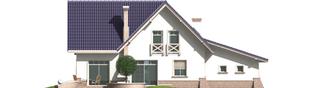 Projekt domu Frania G1 - elewacja tylna