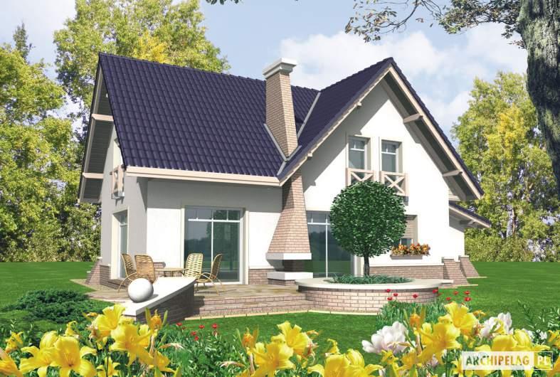 Projekt domu Frania G1 - wizualizacja ogrodowa