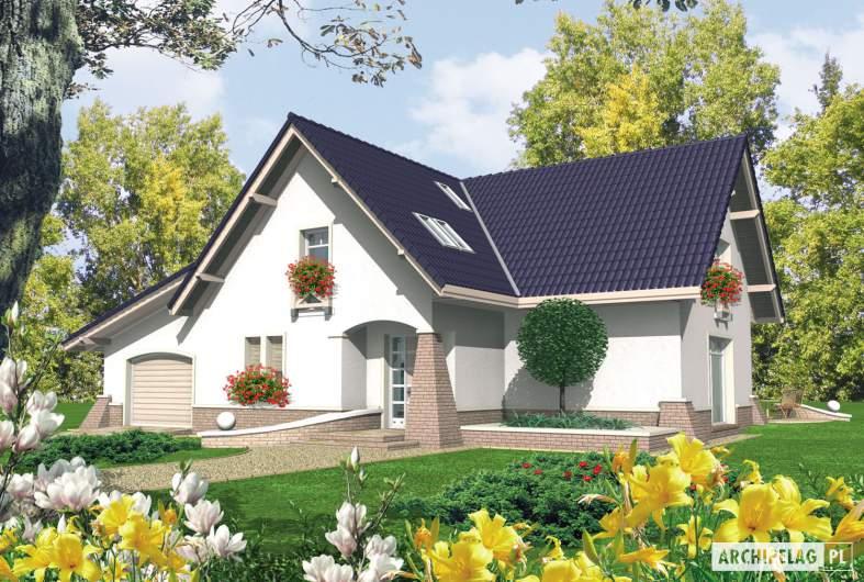 Projekt domu Frania G1 - wizualizacja frontowa