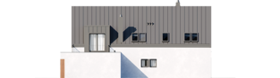 Projekt domu Daniel VI G2 - elewacja prawa