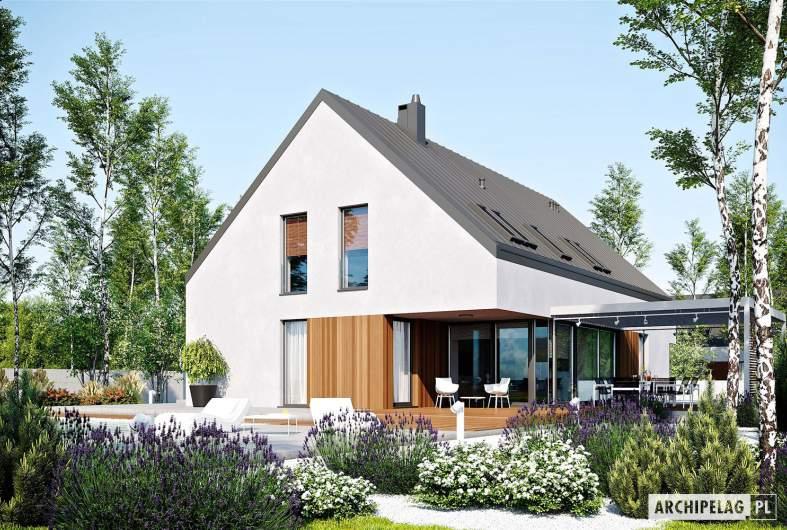 Projekt domu Daniel VI G2 - wizualizacja ogrodowa