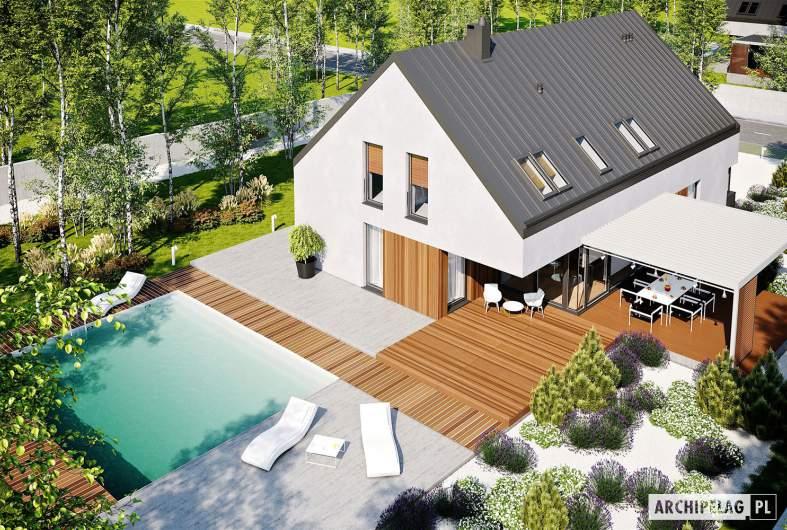 Projekt domu Daniel VI G2 - widok z góry