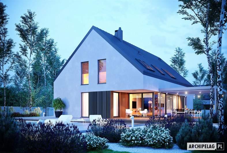 Projekt domu Daniel VI G2 - wizualizacja nocna