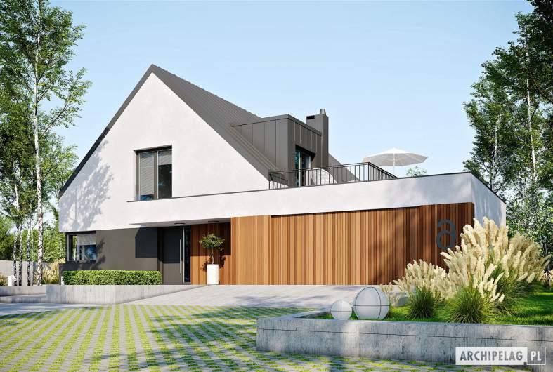 Projekt domu Daniel VI G2 - wizualizacja frontowa