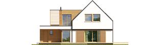 Projekt domu Markus G1 ENERGO PLUS - elewacja tylna