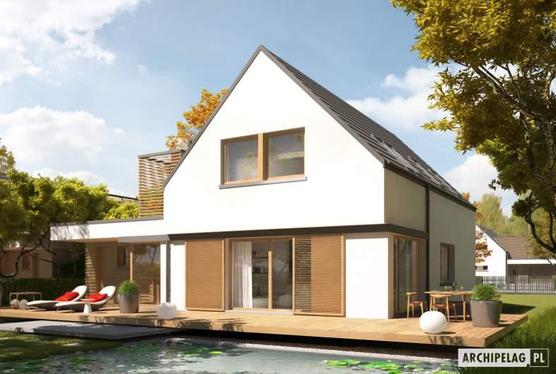 Projekt domu Markus G1 ENERGO PLUS - wizualizacja ogrodowa