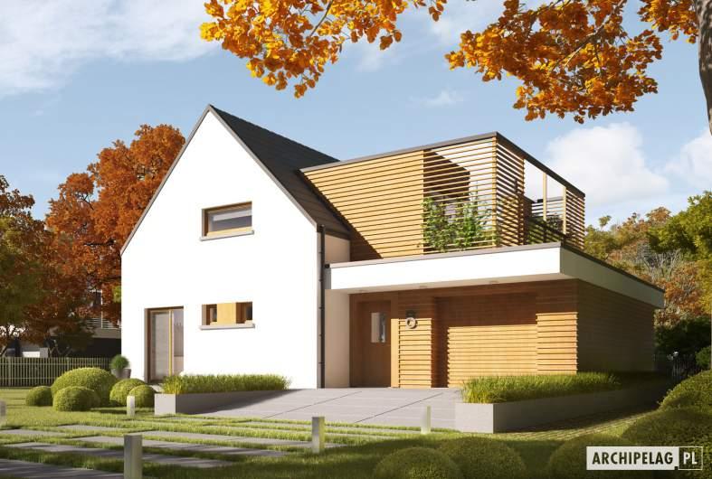 Projekt domu Markus G1 ENERGO PLUS - wizualizacja frontowa