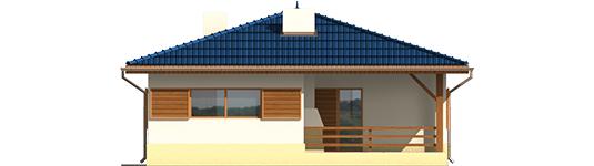 Anell - Projekt domu Anielka (z wiatą) - elewacja prawa