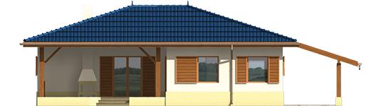 Anell - Projekt domu Anielka (z wiatą) - elewacja tylna