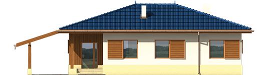 Anell - Projekt domu Anielka (z wiatą) - elewacja frontowa