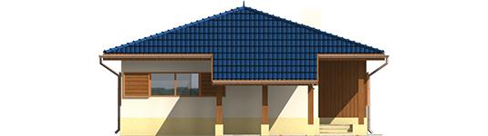 Anell - Projekt domu Anielka (z wiatą) - elewacja lewa
