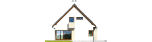 Projekt domu Tim G1 (wersja A) - elewacja lewa