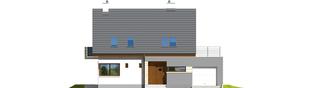 Projekt domu Tim G1 (wersja A) - elewacja frontowa
