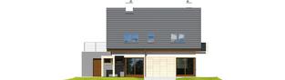 Projekt domu Tim G1 (wersja A) - elewacja tylna