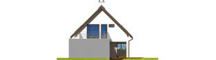 Projekt domu Tim G1 (wersja A) - elewacja prawa