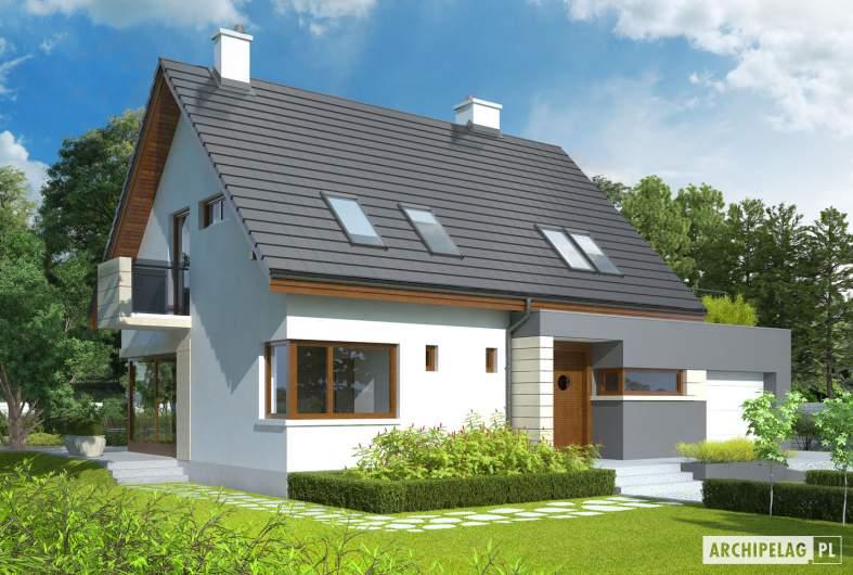 Projekt domu Tim G1 (wersja A) - wizualizacja frontowa