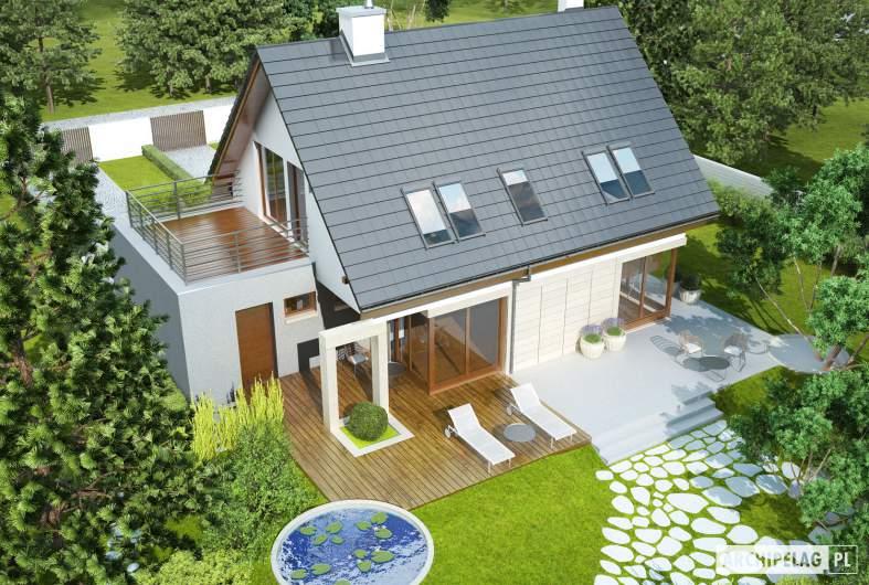 Projekt domu Tim G1 (wersja A) - widok z góry