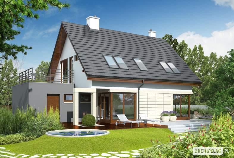 Projekt domu Tim G1 (wersja A) - wizualizacja ogrodowa