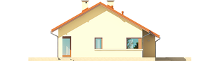 Projekt domu Tori III G1 ECONOMIC (wersja B) - elewacja lewa
