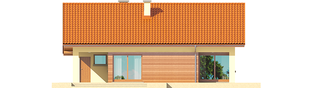 Projekt domu Tori III G1 ECONOMIC (wersja B) - elewacja tylna