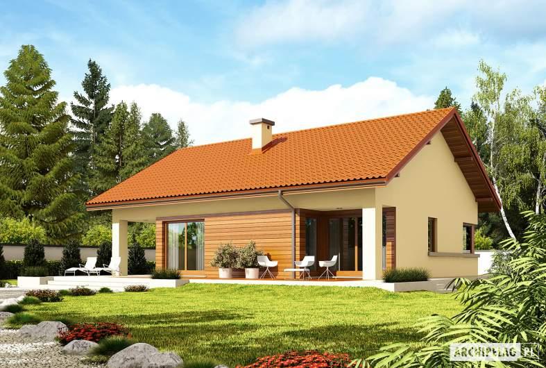 Projekt domu Tori III G1 ECONOMIC (wersja B) - Projekty domów ARCHIPELAG - Tori III G1 ECONOMIC (wersja B) - wizualizacja ogrodowa